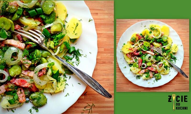 bob, salatka z bobem, przepisy z bobem, sezonowe przepisy, lipiec, lipiec wkuchni, warzywa sezonowe lipiec, lipiec owoce sezonowe lipiec, lipiec warzywa sezonwe, sezonowa kuchnia, sezonowosc, zycie od kuchni, lipiec zestawienie przepisow