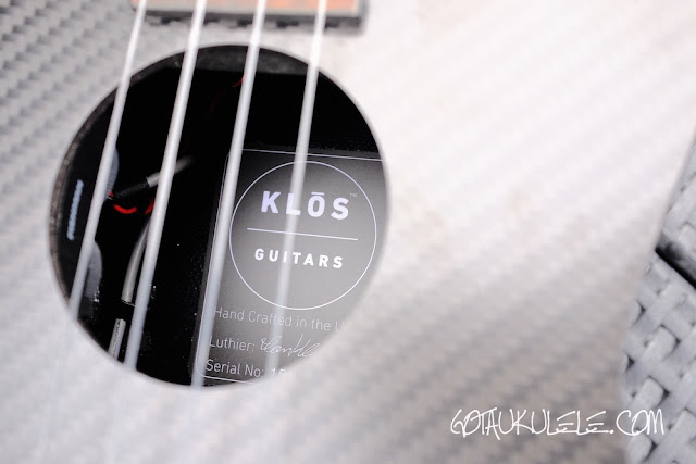 Klos Carbon Fibre Tenor Ukulele sound hole