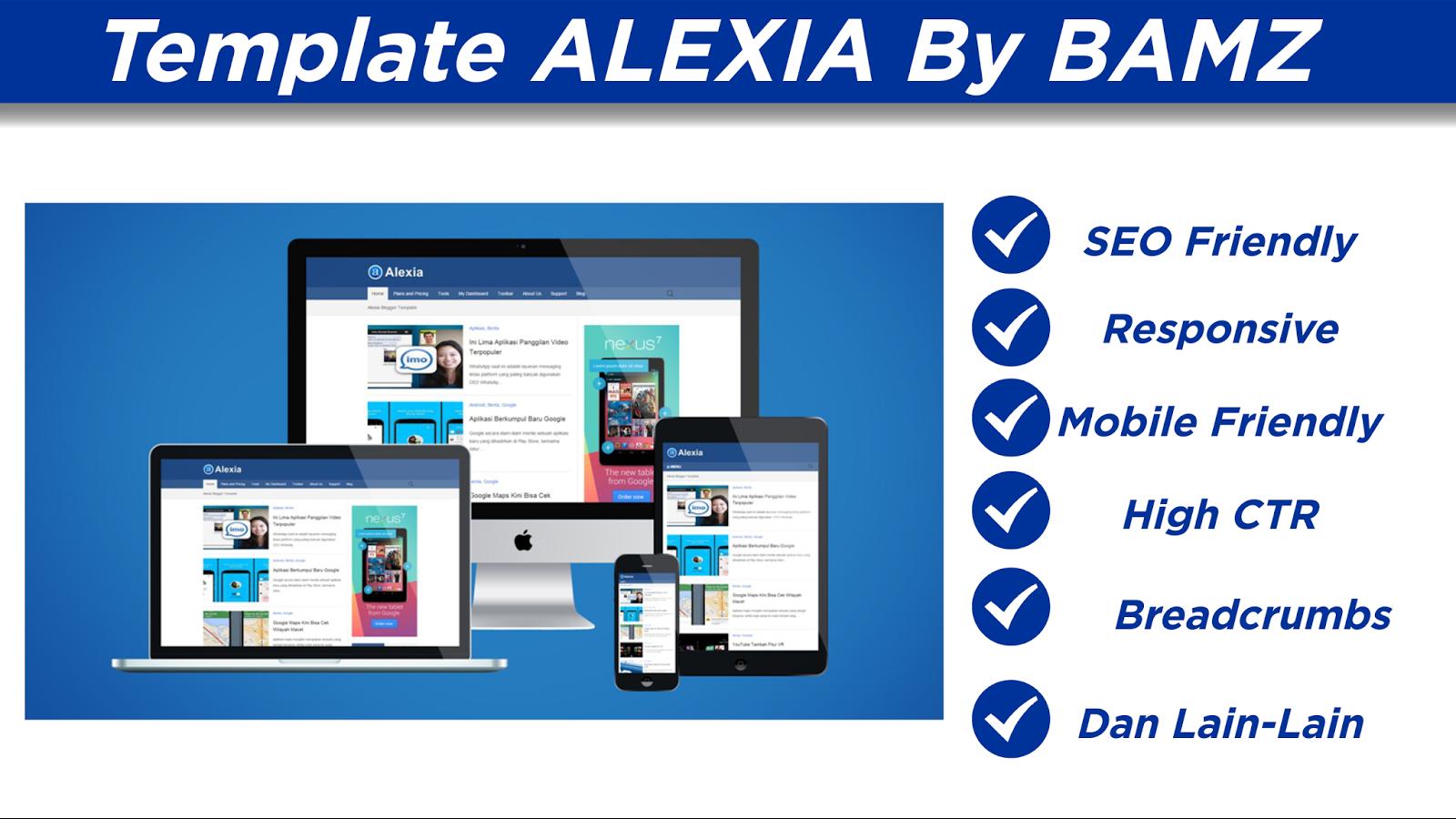 Template Blogger Alexia Free