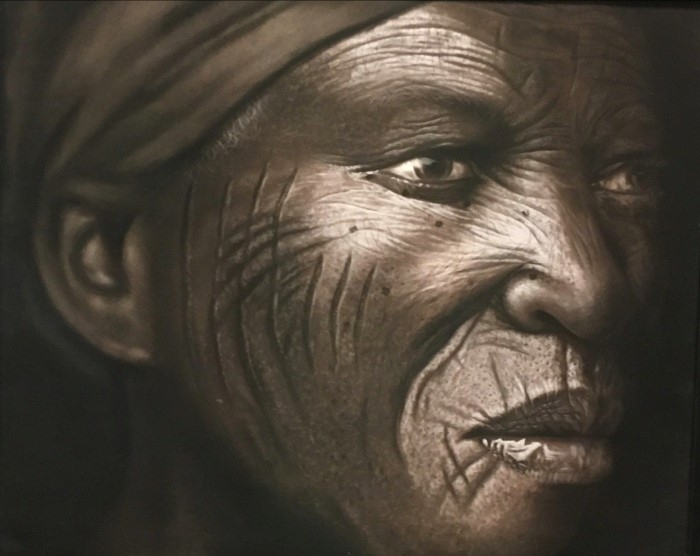 Нигерийский художник. Babajide Olatunji
