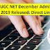 NTA UGC NET December Admit Card 2019 Released: Direct Link