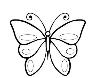 Gambar kupu kupu yang mudah ditiru