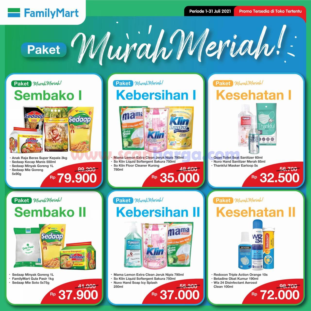 FAMILYMART Promo PAKET MURAH MERIAH Periode 1 – 31 Juli 2021