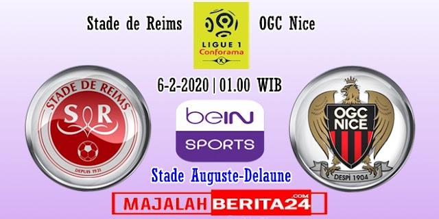Prediksi Reims vs Nice — 6 Februari 2020