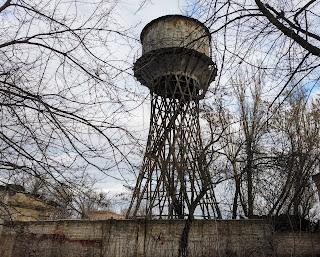 Часов Яр. Цех № 4 огнеупорного комбината и водонапорная башня Шухова