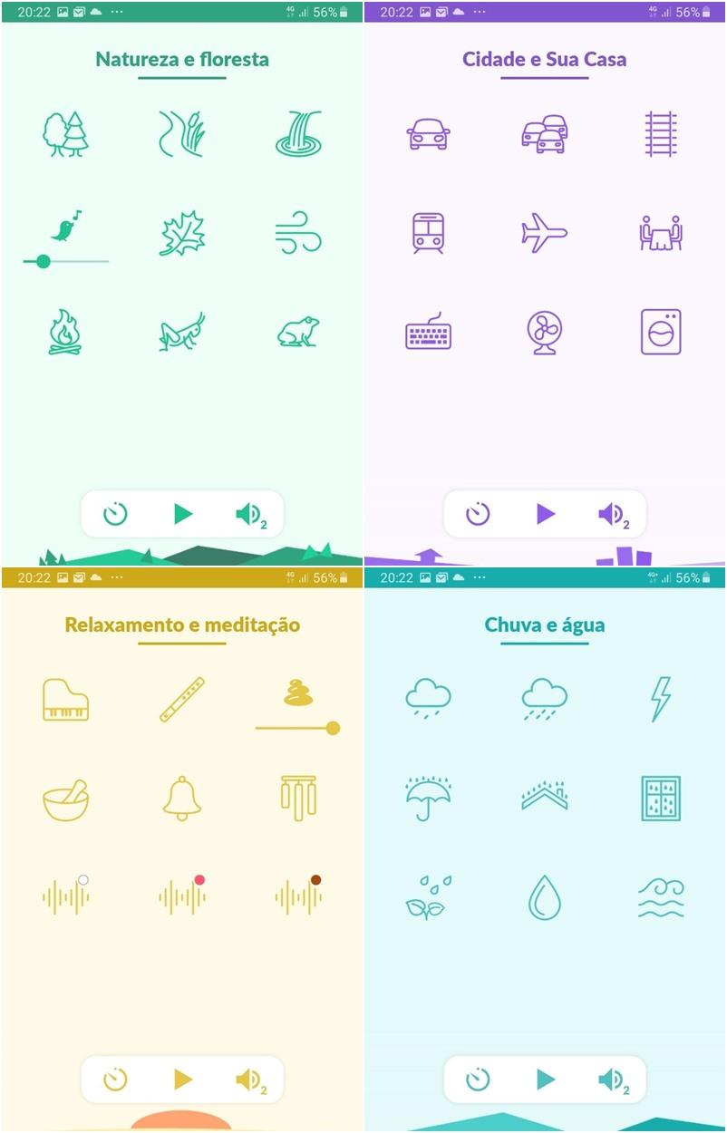 Sleepo app sons relaxantes que vão fazer você dormir nas nuvens