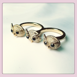 Anel de coruja, bijuterias, acessórios femininos
