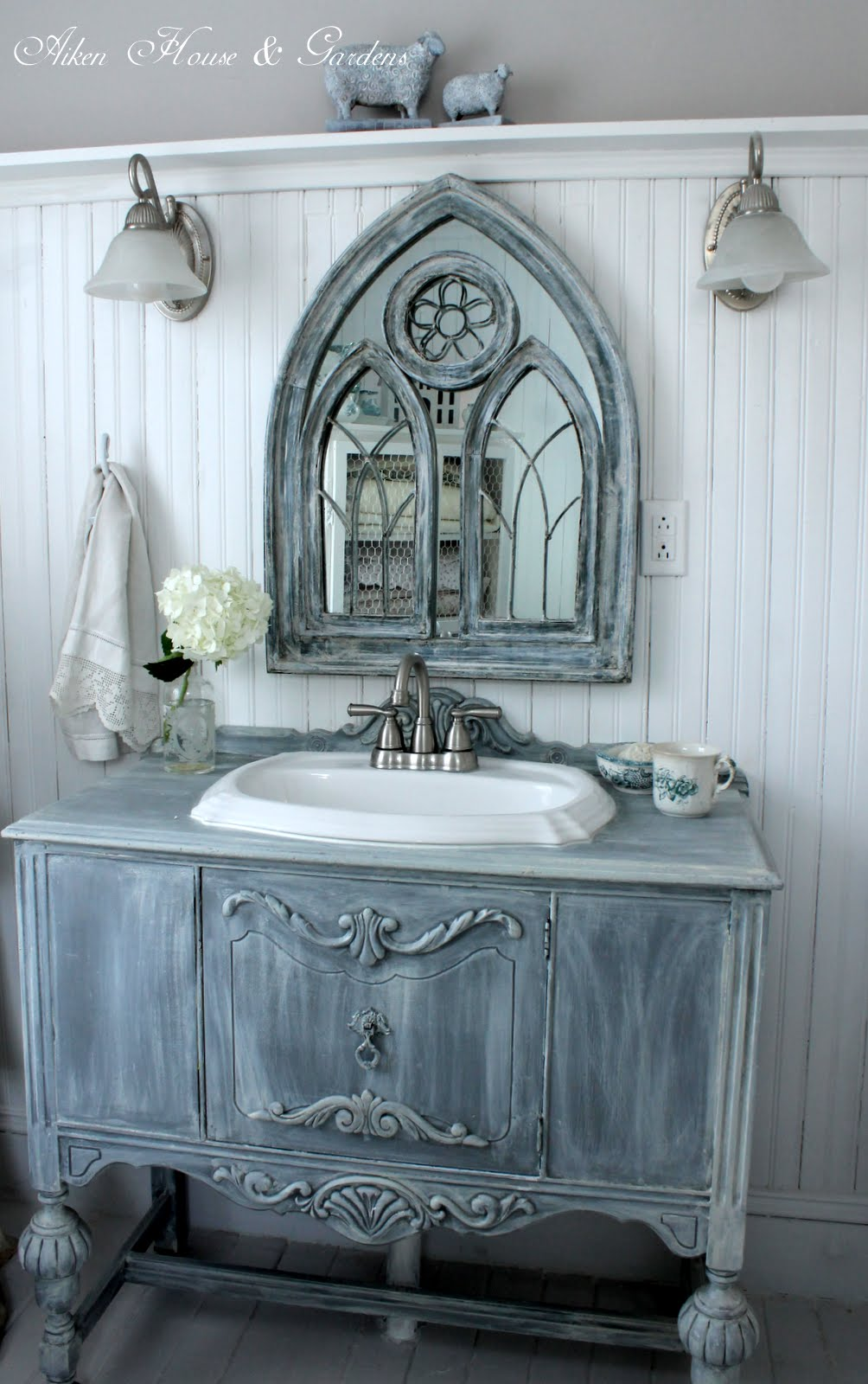 Rustic French Country Bathroom