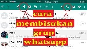 Tutorial cara membisukan dan mengaktifkan kembali kontak atau grup di WhatsApp