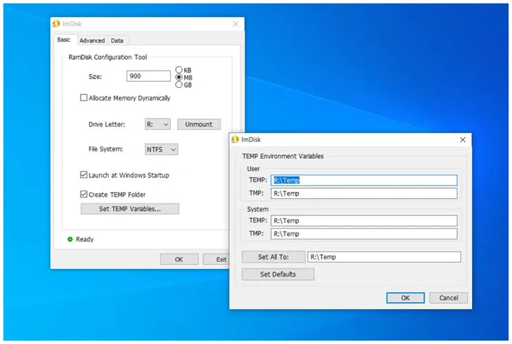 ImDisk Toolkit : Δημιουργήστε  εικονικούς δίσκους  Ram στα Windows