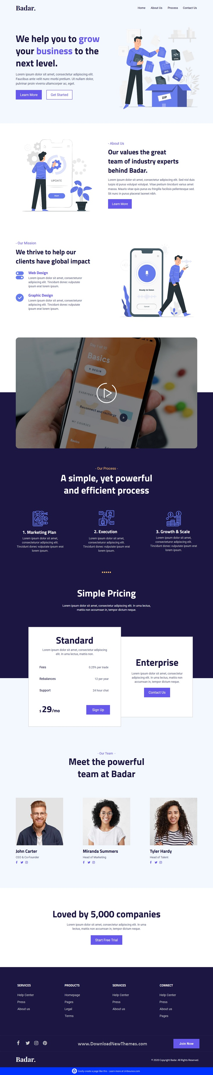Software & SaaS Unbounce Landing Page Template
