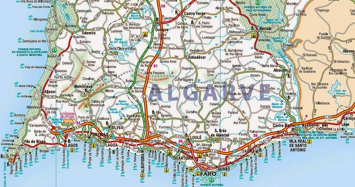 mapa do algarve e sul de espanha Mapas de Lagos   Portugal | MapasBlog mapa do algarve e sul de espanha