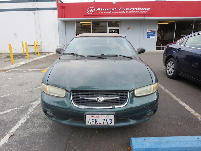 Faded Chrysler Sebring Convertible before repairs from Almost Everything Auto Body