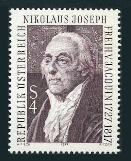 Austria Nikolaus Joseph von Jacquin, botanist, 1977