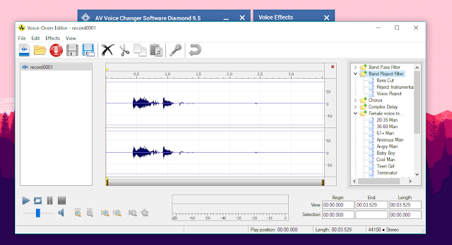 8 مزايا ستجده فقط في برنامج تغيير الاصوات و التعديل عليها AV Voice Changer