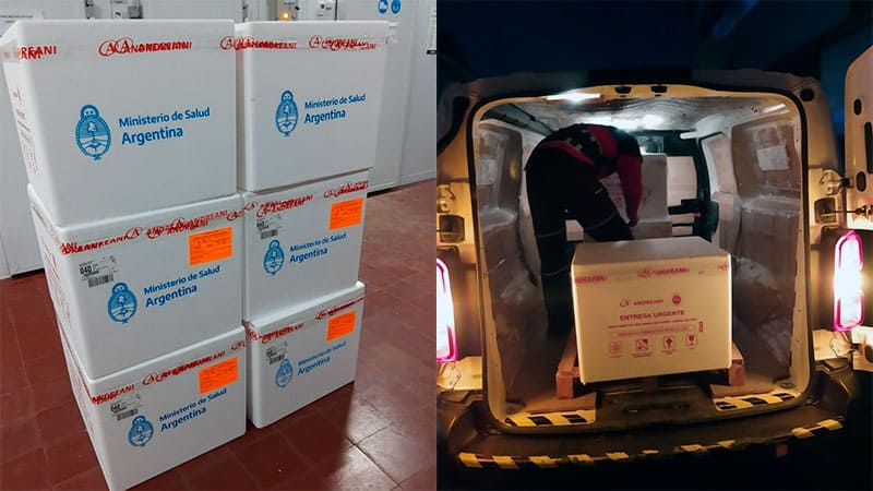Entre Ríos recibió 24.700 dosis de la vacuna AstraZeneca