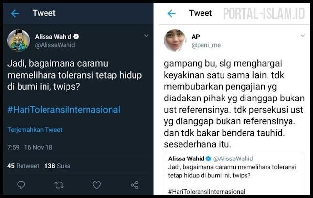 Alissa Wahid Bertanya Bagaimana Cara Menjaga Toleransi, Jawaban Netizen ini 'Mantul' Banget