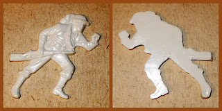 Mixed Plastic and Other Vintage and Modern Toy Soldier Model Figure and Other Accessories Italian Bersaglieri Flats WWI Doughboys