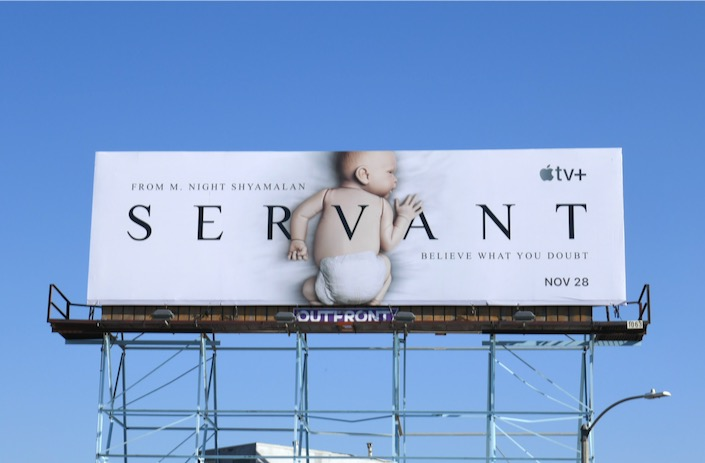 Servant Apple TV series premiere billboard