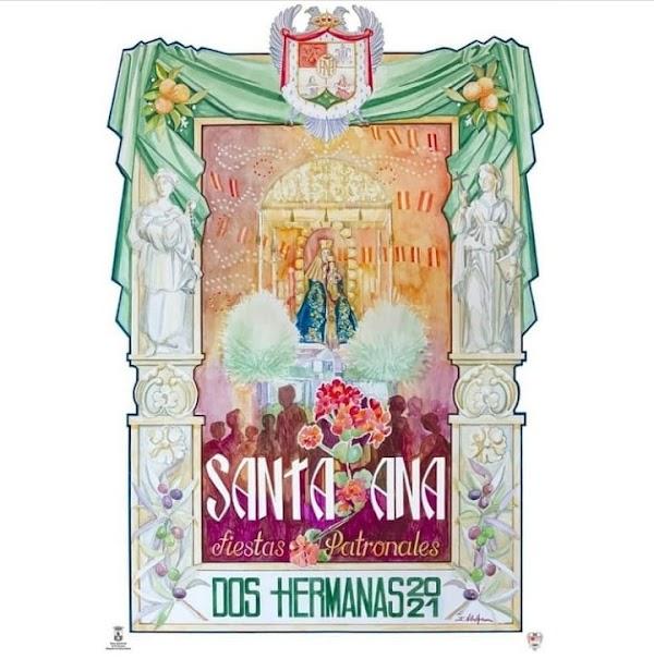 Cartel anunciador de las fiestas patronales de Santa Ana de Dos Hermanas 2021