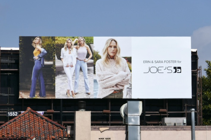 Erin Sara Foster Joes Jeans SS20 billboard
