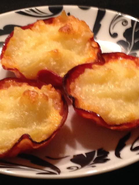 Cestitas de patata,y chorizo