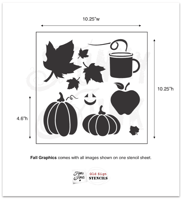 Photo of a fall graphics stencil