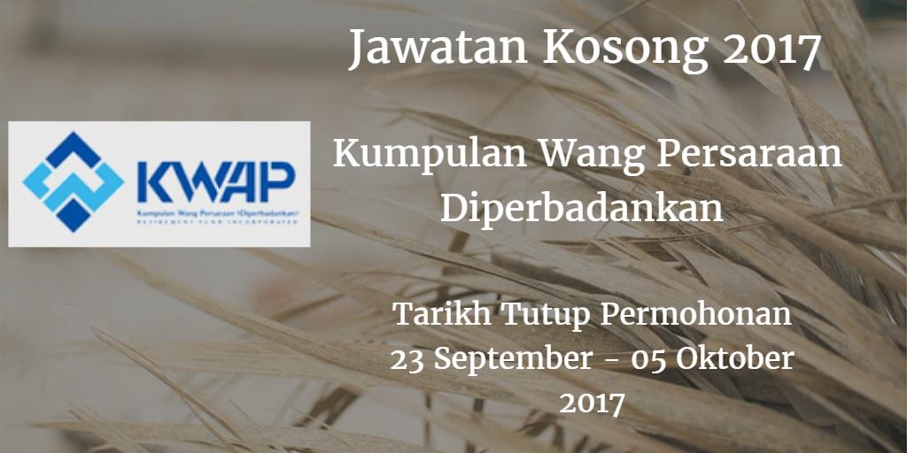 Jawatan Kosong KWAP 23 September - 05 Oktober 2017