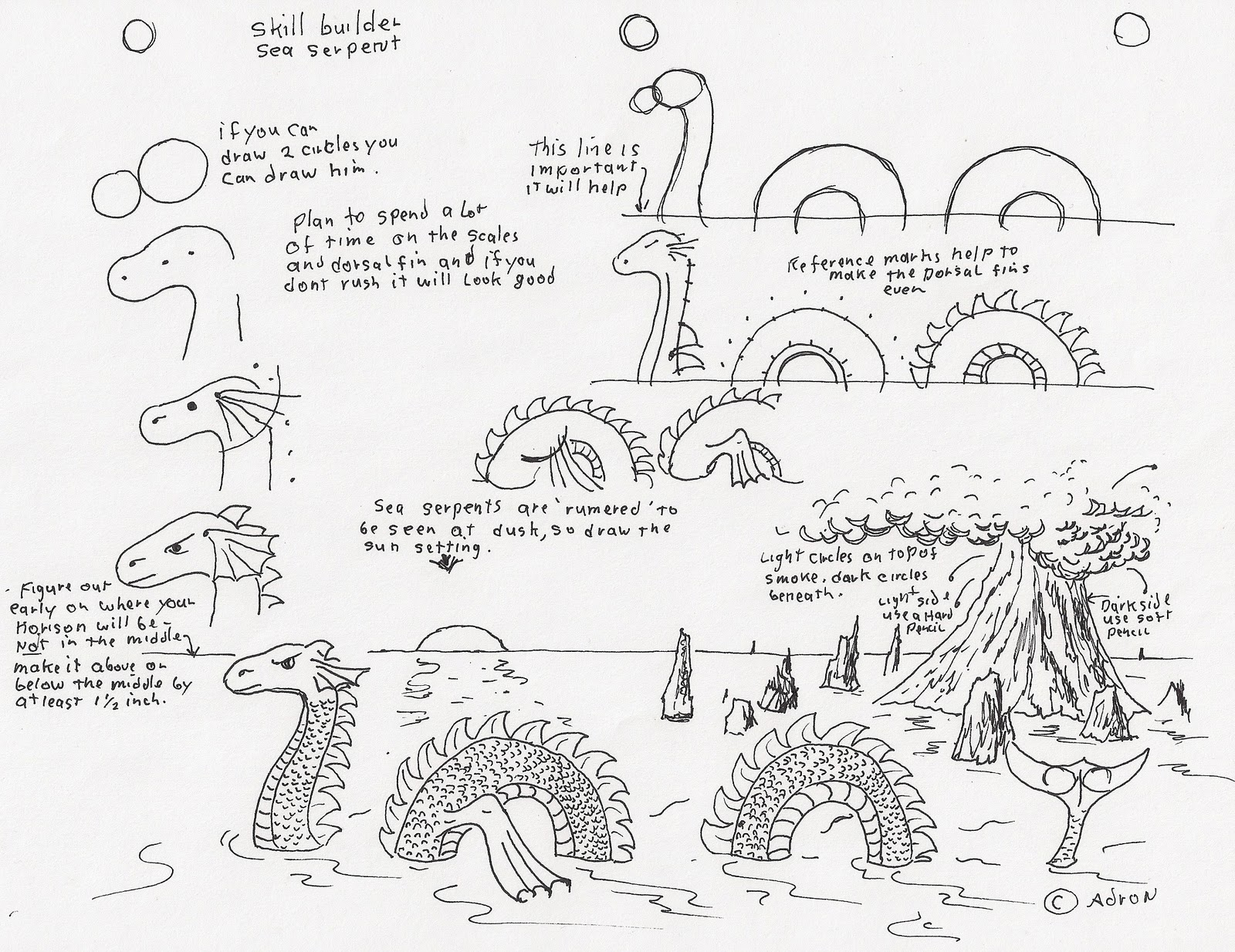 How To Draw A Serpent