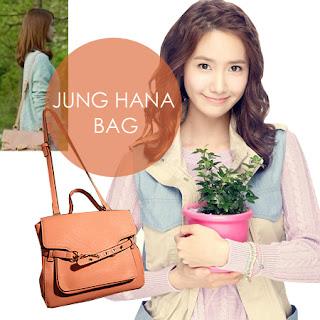 hana jung pink rain bag brown 상점 웨이브 wave idr handbag yoona