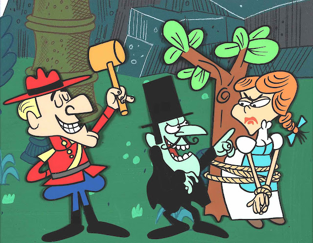 Dudley Do-Right & Snidely Whiplash with Nell, by Jay Ward animation