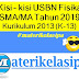 Kisi - kisi USBN Fisika SMA/MA Tahun 2019 Kurikulum 2013 (K-13)