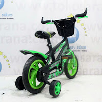 12 morison eva sepeda anak bmx green