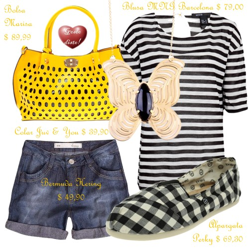 Como usar: Camiseta listrada - How to wear: Striped t-shirt