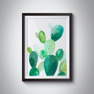 akwarelowe kaktusy ilobahie