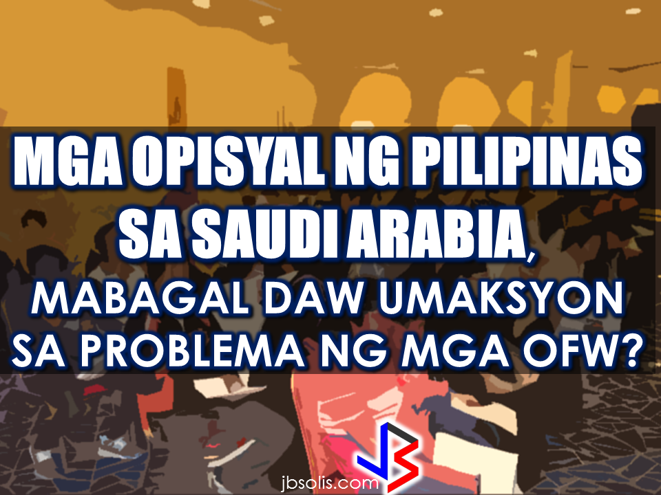 "Reports saying that the Embassy officials in Saudi Arabia have been acting slow with regards to helping stranded and runaway OFWs are not entirely correct according to Philippine Consul General Iric Arribas. He also said that the Philippine Embassy in Riyadh and  the philippine Consulate in Jeddah are both providing the OFWs all the help they need which includes repatriation as well.  700 OFWs have been in jails in Saudi Arabia for various charges because there are no assistance coming from the Embassy officials, according to the reports from various OFW advocates. Arribas also denied  the remarks that the Philippine Overseas Labor Office (POLO) has been trying to shrug off the real situation of the OFWs by not making President Duterte totally aware of it by providing the president factual  information. Arribas said that there is no such thing, citing that they have repatriated around 3,000 OFWs last year as a proof that they are extending all forms of help for the OFWs. President Duterte has arrived in Saudi Arabia for a series of state visits to Saudi, Qatar and Bahrain.   Known to have high concern about OFWs, President Duterte vows to pull out some OFWs on death row and god-willing, he might bring some of them home with him on his return to the Philippines. President Rodrigo Roa Duterte left for the Middle East on Monday for a state visit in three Gulf Countries which includes Saudi Arabia, Bahrain and Qatar, with a promise that he will bring some of the OFWs who had been on death row in the said countries, except Qatar, where there are no recorded OFWs on death row. ""They've been given the clearance. I will fly them home. When I return, I'll be bringing some of them home, "" he said during a pre-departure press briefing in Davao City.  Records on OFWs on death row, according to  Foreign Affairs Assistant Secretary Hjayceelyn Quintana, is only 31 in Saudi Arabia and one in Bahrain.   The President will be visiting Saudi Arabia on April 10 -12,  Qatar on April 14-16 and Bahrain on April 12-14. The different OFW communities in the said countries are excitedly preparing for the President's visit to their host country. Preparations are underway and the Filcom leaders are organizing the venue and the crowd prior to the much awaited visit of President Duterte.   During last week's briefing DFA Assistant Secretary Quintana, said that cases of the OFWs in risk of execution are relatively complex and  different in levels and that the Office of the Undersecretary for Migrant Workers Affairs are studying each case to determine which one's are ready for clemency or pardon.   The Office of the President have been informed  about the cases of the OFWs on death row, according to Quintana. However the DFA official explained that it would depend on what the victims and the family to decide depending on what is being stated in the Sharia Law. The Middle east is largely a follower of the Islamic faith where Sharia Law is strictly followed. Source: GMA,     Recommended: ""We would like to find out exactly how many OFWs have been convicted or undergoing trial, the nature of their cases, the penalty they are facing, what can be done to help them,"" Quezon City Representative Winnie Castelo  said. Castelo called for complete inventory of the OFWs facing jail term and their corresponding court cases in their host country from OWWA and DFA so that the House of Representatives can draft a comprehensive legal assistance program to prevent future executions.         On the case of Jakatia Pawa, Castelo claimed the DFA was informed of Pawa's fate only on January 24, a day before her execution, saying the DFA and OWWA would have saved the life of Pawa if they were informed earlier.   ""If the DFA and OWWA had been on their toes, the notice would not have come too late,"" he said.  Castelo said that these two agencies should have a different plan and approach to address various cases OFWs are facing. He also asked OWWA and the DFA to present their ongoing program, if any, that aims to prevent OFWs from being involved on criminal acts or being victimized  by abuse of their employer that may have pushed them to  commit crimes.      The Congressman even said that The two agencies may tell the Congress if they lack or short of funds so that the House can make the appropriation for a legal defense fund for OFWs. ""We would like to find out exactly how many OFWs have been convicted or undergoing trial, the nature of their cases, the penalty they are facing, what can be done to help them,"" Quezon City Representative Winnie Castelo  said.Castelo called for complete inventory of the OFWs facing jail term and their corresponding court cases in their host country from OWWA and DFA so that the House of Representatives can draft a comprehensive legal assistance program to prevent future executions. President Rodrigo Duterte's compassion to the OFW sector is evident in his actions that's why OFWs around the globe love him. From the creation of OFW one-stop-shop to dissolution of tanim-bala and bukas-balikbayan box, he even told the OFWs to slap anyone who may attempt to extort money from them at the NAIA.   The President even told the OFWs that he wants that the OFW diaspora will end in this generation and come home to the Philippines for good. He never fail to address OFW concerns whenever he visit a country and with government programs for the OFWs, the sector that has been neglected by the previous administration has found their president, indeed.   President Duterte  will be visiting the United Arab Emirates and Saudi Arabia soon and here are the reasons why:  1. To express gratitude to the overseas Filipinos for their support. During the last presidential election, the OFWs and their families supported the then Davao Mayor Duterte with the largest OAV turnout in the last 10 years. In UAE alone, Duterte got 51,879 or 83.5 % of the total 62,103 actual votes cast. Duterte got 58% of the total votes in Jeddah, Saudi Arabia and 64% total votes in Riyadh. According to the data released by Commission on Elections (Comelec) Commissioner Rowena Guanzon, Duterte got the most number of votes with 313,346 total votes from OFWs abroad.   2.Listen to OFW concerns.  ""The trip is not something for other reasons. We are coming here to address specific problems. He could not himself fully understand why Filipinos would much rather want to remain here. He would like to make sure that he fully understands this,"" DFA Secretary Perfecto Yasay Jr. said.  ""He will not only go to Saudi or UAE and go back home. No, he will stay here for a few days, talk to the leaders and see what kinds of agreement can be signed,"" he added.  The OFWS are close to the heart of the President  because he understand them, like a father knows and understand his children.     3. For bilateral agreements that will benefit the OFWs.   According to Sec. Yasay,senior Philippine officials ""are now engaging our counterparts in these countries for the purpose of entering into agreements to strengthen our bilateral agreements"" prior to President Duterte's trip.  4. To formulate policies for the benefit of our modern heroes--the OFWs.    Among President Duterte's flagship programs for OFWs are the creation of a separate department for OFWs, the creation of an OFW bank and the abolition of the Overseas Employment Certificate (OEC).  The Middle East-specific policies will be implemented based on the president's assessment on his visit to the region.   5. To sustain Philippines' economic growth by forging trade ties with the Middle east counterparts and generate jobs back home. ""It is the hope of President Duterte that before his six year term is over, those who apply for jobs abroad will simply be doing so on the basis of choice rather than forced to do so,"" Yasay said.  6. To address the largest OFW community in Saudi Arabia. Currently, there are 872,000 OFWs in Saudi and half of this population is in Riyadh. The other half is spread across the eastern and western regions.  7. Biggest OFW remittances next to USA is coming from Saudi, Arabia.  Without a doubt, OFW remittances make the Philippine economy afloat. The OFWs send remittances to their family back home  which their family are spending in malls, restaurants, and others which keeps the economy alive.  8. Saudi Arabia is the biggest potential trade partner from Arab region. In terms of trade, Saudi Arabia was among the top 10 partners of the Philippines in 2012. One of the key agendas on Duterte's visit is to initiate talks with Saudi for bilateral collaborations in a number of sectors like agriculture, travel and tourism, culture, labour, trade and investment.   9.The largest number of OFWs in distress are in the Middle East particularly in Saudi Arabia.   Thousands of  distressed OFW are in Saudi Arabia, some of them are already been repatriated through the effort of the Duterte Administration and has been given assistance by OWWA and DOLE and through the programs of other government agencies like TESDA.  10. Saudi arabia and the UAE was last visited by the Philippine Pres on 2009. The last visit made by a Philippine President  to Saudi Arabia  was during  former Pres. Gloria Macapagal Arroyo's visit in 2009. The president who succeeded her never visited the middle east in his entire term.  President Rodrigo Duterte is set to visit the Middle East on February to talk and listen to the OFWs personally and to give hope to them that he will fix the country, generate more jobs and business opportunities, and make it peaceful for them to come home for good. President Rodrigo Duterte's compassion to the OFW sector is evident in his actions that's why OFWs around the globe love him.From the creation of OFW one-stop-shop to dissolution of tanim-bala and bukas-balikbayan box, he even told the OFWs to slap anyone who may attempt to extort money from them at the NAIA. The President even told the OFWs that he wants that the OFW diaspora will end in this generation and come home to the Philippines for good. He never fail to address OFW concerns whenever he visit a country and with government programs for the OFWs, the sector that has been neglected by the previous administration has found their president, indeed.    Whether you are planning to start a small business, purchase a new car or raising funds to  buy a new house or do a major house renovation, it may not take forever to raise it just from the savings you get from your salary. Many people resort to availing  loans from banks, financing companies or even a close friend.  To avail a loan, you can always apply anywhere but there will be no guarantee that your loan application will be approved instantly. Why do loan applications are declined?  There are various reasons  why loan applications are being disapproved.   Here are the 10 main reasons that might cause your loan application  to be declined:     Failure to submit pre-qualifying requirements. In applying for any loans, you need to provide the needed requirements. Failure to do so can surely compromise the transaction and may lead to disapproval of your loan application.    Not resolving bad credit.  Bad credits reflects bad paying habits. Nobody will ever lend any amount without the assurance that you will be able to pay it on time.    Not doing enough research.   Doing a research about the company background and some information about people who already had their loan approved in a certain financing companies may help you get a positive result.    Error in credit report. Not declaring or not disclosing about your credit history may lead to denial of loan. The finance companies has a wide network and they are using every bit of information to check if you are really worth they trust. If you fail to provide the information they needed, your loan application could be declined.    Thinness of credit file. Good credit records can be useful in dealing with loan applications. The more good credit transactions you have, the  better. It will speak for you and get the loan you wish if you have enough good transactions from various credit or loan company.    Having too much debt. One thing lenders look at when they're reviewing loan applications is your debt-to-income ratio. If your monthly salary could not balance well with your debts, you are most likely to be declined of your loan application.  OFWs who are availing loans can be disapproved due to the following reasons:         In order to have a successful loan application, you need to consider the above-mentioned points to make sure that you would get the approval for your loan. Sources: Smart Asset, Loan Solutions  OFWs, contrary to the common notions, are not rich and they do not have a lot of money. Some OFWs even return home broke after several years of working overseas.  Financial literacy seminar and entrepreneurship trainings are being conducted for the OFWs to be aware of their financial status and  to do something to improve their lives by means of generating other sources of income aside from the salary they are getting from the job they currently have while working abroad. Some OFWs plan of putting up a business or venture out in investment opportunities like real estate, stocks, and any other possible means to get them ready for their return in the Philippines for good.  A wife of an OFW asked OWWA about what sort of  business she can start as a spouse of an OFW who is an active member. Samantha Natividad  said that her husband is an OFW for a long time and she wants to start a business to help her husband as their children are growing up as well as their expenses. As a helpful information for other OFW spouses  who also want to help  their OFW partners, we made this info graphics regarding this topic.  Does OWWA have an existing program for OFWs who want to start their own business? Yes. The Overseas Workers Welfare Administration (OWWA) has  two existing programs under the reintegration program  for those who want to start their own business.  What are those? In the first program, OWWA can give a 'grant' for OFW spouses who want to start even a small scale business. How much is the amount of funds OWWA can provide under this program? The fund that can be granted under this program depends on what kind of business they want to start. However, the maximum amount is only P20,000.   What is the other program? The other program is called a 'special loan program'. this loan program is through partnership with the Development Bank of the Philippines (DBP) and the Land Bank of the Philippines.  How much can an OFW spouse can avail on this program? OFWs and their spouses can avail a loan amounting from P300,000 up to P2,000,000.  How much should be the net income of an OFW to avail of this loan? For an OFW to avail of this loan, he/she must be earning a net monthly income of at least P10,000 to avail the loan amount of P3,000 up to P2 Million.    How much will be the interest rate? The loan will have an interest rate of 7.5% annually.  What will be the mode/frequency of payment? Depending on project's cash flow, the OFW can pay it on monthly, quarterly or annual basis.  Where  should the OFW wife/husband apply to avail these programs? They can apply at any OWWA Regional Welfare Office (ORW) nearest to them.  What are the eligibility requirements  for the  OFW to be qualified to avail? 1. The OFW must be an active OWWA member.  2. OFW husband/wife who want to avail must have completed the Entrepreneurial Development Training (EDT) conducted by NRCO and OWWA ORWsin cooperation with the Department of Trade and Industry/Philippine Trade Training Center (PTTC)/ Bureau of Micro, Small and Medium Enterprise Development (BSMED).  3. They must provide 20% equity.  4. The project or business must generate a net income of at least P10,000 for the OFW.  For details and information regarding these program, you can contact OWWA Regional Offices in your area.  *These information is based on the answer provided by OWWA Deputy Administrator Josefino Torres. Source: BanderaInquirer.net   Recommended:     2017 Top 10 IDEAS for OFWs to Invest  A Filipina based in Waikato, New Zealand has now been sentenced to 11 months and  2 weeks of house arrest after she was convicted for 284 immigration fraud charges involving her visa scam back in October 2015. A 180 hour community service also comes with the sentence. Loraine Anne Jayme, 35, a resident of Te Aroha, Waikato has a dual citizenship. For every OFW who wish to come to New Zealand, she charges $2,250 each. It took some time for the scam to be uncovered because Immigration New Zealand (INZ) didn't initially realise a large portion of the workers were processing their application through the alleged ringleader.   However, Immigration Minister Michael Woodhouse said that more than a thousand Filipinos who might have entered the country illegally  using fake visas could stay.  Mr. Woodland said that they could stay to avoid potential damage to the dairy industry and the rebuilding of Christchurch. There are 38,000  OFWs working on dairy farms in New Zealand and they are living with pretty good reputation with regards to their work ethics and they are worried about what it could mean to them.  ""We're law abiding people. We like to see the law of our land upheld and proper process done,"" Mr Lewis said.   ""So yeah, I have to give credit to Immigration New Zealand for doing it and hopefully they'll be back on deck next week processing them within their required rules,"" he added. The authorities are now auditing farms around the Waikato, Canterbury and Southland. Source: TVNZ, NewsHub, Inquirer RECOMMENDED:  The mother of a 12-year old girl who mysteriously died while on her father's care in Jeddah, Saudi Arabia sought the help of the Philippine government, particularly on the Presidential Action Center to help her forward the case to the DFA to allow the Philippine Consulate in Jeddah  to transmit the autopsy report conducted on her daughter.Bliss Mendoza, an OFW in Canada was working in Jeddah as a nurse together with her husband and daughter ""Tipay"" before she worked in Canada and left her daughter with her husband's care in Jeddah.     The OFWs are the reason why President Rodrigo Duterte is pushing through with the campaign on illegal drugs, acknowledging their hardships and sacrifices. He said that as he visit the countries where there are OFWs, he has heard sad stories about them: sexually abused Filipinas,domestic helpers being forced to work on a number of employers. ""I have been to many places. I have been to the Middle East. You know, the husband is working in one place, the wife in another country. The so many sad stories I hear about our women being raped, abused sexually,"" The President said. About Filipino domestic helpers, he said:  ""If you are working on a family and the employer's sibling doesn't have a helper, you will also work for them. And if in a compound,the son-in-law of the employer is also living in there, you will also work for him.So, they would finish their work on sunrise."" He even refer to the OFWs being similar to the African slaves because of the situation that they have been into for the sake of their families back home. Citing instances that some of them, out of deep despair, resorted to ending their own lives.  The President also said that he finds it heartbreaking to know that after all the sacrifices of the OFWs working abroad for the future of their families they would come home just to learn that their children has been into illegal drugs. ""I made no bones about my hatred. I said, 'If you do drugs in my city, if you destroy our daughters and sons, I'll just have to kill you.' I repeated the same warning when i became president,"" he said.   Critics of the so-called violent war on drugs under President Duterte's administration includes local and international human rights groups, linking the campaign on thousands of drug-related killings.  Police figures show that legitimate police operations have led to over 2,600 deaths of individuals involved in drugs since the war on drugs began. However, the war on drugs has been evident that the extent of drug menace should be taken seriously. The drug personalities includes high ranking officials and they thrive in the expense of our own children,if not being into drugs, being victimized by drug related crimes. The campaign on illegal drugs has somehow made a statement among the drug pushers and addicts. If the common citizen fear walking on the streets at night worrying about the drug addicts lurking in the dark, now they can walk peacefully while the drug addicts hide in fear that the police authorities might get them. Source:GMA {INSERT ALL PARAGRAPHS HERE {EMBED 3 FB PAGES POST FROM JBSOLIS/THOUGHTSKOTO/PEBA HERE OR INSERT 3 LINKS}   ©2017 THOUGHTSKOTO www.jbsolis.com SEARCH JBSOLIS The OFWs are the reason why President Rodrigo Duterte is pushing through with the campaign on illegal drugs, acknowledging their hardships and sacrifices.     ©2017 THOUGHTSKOTO www.jbsolis.com SEARCH JBSOLIS The mother of a 12-year old girl who mysteriously died while on her father's care in Jeddah, Saudi Arabia sought the help of the Philippine government, particularly on the Presidential Action Center to help her forward the case to the DFA to allow the Philippine Consulate in Jeddah  to transmit the autopsy report conducted on her daughter.Bliss Mendoza, an OFW in Canada was working in Jeddah as a nurse together with her husband and daughter ""Tipay"" before she worked in Canada and left her daughter with her husband's care in Jeddah.    The OFWs are the reason why President Rodrigo Duterte is pushing through with the campaign on illegal drugs, acknowledging their hardships and sacrifices. He said that as he visit the countries where there are OFWs, he has heard sad stories about them: sexually abused Filipinas,domestic helpers being forced to work on a number of employers. ""I have been to many places. I have been to the Middle East. You know, the husband is working in one place, the wife in another country. The so many sad stories I hear about our women being raped, abused sexually,"" The President said. About Filipino domestic helpers, he said:  ""If you are working on a family and the employer's sibling doesn't have a helper, you will also work for them. And if in a compound,the son-in-law of the employer is also living in there, you will also work for him.So, they would finish their work on sunrise."" He even refer to the OFWs being similar to the African slaves because of the situation that they have been into for the sake of their families back home. Citing instances that some of them, out of deep despair, resorted to ending their own lives.  The President also said that he finds it heartbreaking to know that after all the sacrifices of the OFWs working abroad for the future of their families they would come home just to learn that their children has been into illegal drugs. ""I made no bones about my hatred. I said, 'If you do drugs in my city, if you destroy our daughters and sons, I'll just have to kill you.' I repeated the same warning when i became president,"" he said.   Critics of the so-called violent war on drugs under President Duterte's administration includes local and international human rights groups, linking the campaign on thousands of drug-related killings.  Police figures show that legitimate police operations have led to over 2,600 deaths of individuals involved in drugs since the war on drugs began. However, the war on drugs has been evident that the extent of drug menace should be taken seriously. The drug personalities includes high ranking officials and they thrive in the expense of our own children,if not being into drugs, being victimized by drug related crimes. The campaign on illegal drugs has somehow made a statement among the drug pushers and addicts. If the common citizen fear walking on the streets at night worrying about the drug addicts lurking in the dark, now they can walk peacefully while the drug addicts hide in fear that the police authorities might get them. Source:GMA {INSERT ALL PARAGRAPHS HERE {EMBED 3 FB PAGES POST FROM JBSOLIS/THOUGHTSKOTO/PEBA HERE OR INSERT 3 LINKS}   ©2017 THOUGHTSKOTO www.jbsolis.com SEARCH JBSOLIS The OFWs are the reason why President Rodrigo Duterte is pushing through with the campaign on illegal drugs, acknowledging their hardships and sacrifices.     ©2017 THOUGHTSKOTO www.jbsolis.com SEARCH JBSOLIS A wife of an OFW asked OWWA about what sort of  business she can start as a spouse of an OFW who is an active member. Samantha Natividad  said that her husband is an OFW for a long time and she wants to start a business to help her husband as their children are growing up as well as their expenses.As a helpful information for other OFW spouses  who also want to help  their OFW partners, we made this info graphics regarding this topic. ©2017 THOUGHTSKOTO www.jbsolis.com SEARCH JBSOLIS  OFWs, contrary to the common notions, are not rich and they do not have a lot of money. Some OFWs even return home broke after several years of working overseas.  Financial literacy seminar and entrepreneurship trainings are being conducted for the OFWs to be aware of their financial status and  to do something to improve their lives by means of generating other sources of income aside from the salary they are getting from the job they currently have while working abroad. Some OFWs plan of putting up a business or venture out in investment opportunities like real estate, stocks, and any other possible means to get them ready for their return in the Philippines for good.  A wife of an OFW asked OWWA about what sort of  business she can start as a spouse of an OFW who is an active member. Samantha Natividad  said that her husband is an OFW for a long time and she wants to start a business to help her husband as their children are growing up as well as their expenses. As a helpful information for other OFW spouses  who also want to help  their OFW partners, we made this info graphics regarding this topic.  Does OWWA have an existing program for OFWs who want to start their own business? Yes. The Overseas Workers Welfare Administration (OWWA) has  two existing programs under the reintegration program  for those who want to start their own business.  What are those? In the first program, OWWA can give a 'grant' for OFW spouses who want to start even a small scale business. How much is the amount of funds OWWA can provide under this program? The fund that can be granted under this program depends on what kind of business they want to start. However, the maximum amount is only P20,000.   What is the other program? The other program is called a 'special loan program'. this loan program is through partnership with the Development Bank of the Philippines (DBP) and the Land Bank of the Philippines.  How much can an OFW spouse can avail on this program? OFWs and their spouses can avail a loan amounting from P300,000 up to P2,000,000.  How much should be the net income of an OFW to avail of this loan? For an OFW to avail of this loan, he/she must be earning a net monthly income of at least P10,000 to avail the loan amount of P3,000 up to P2 Million.    How much will be the interest rate? The loan will have an interest rate of 7.5% annually.  What will be the mode/frequency of payment? Depending on project's cash flow, the OFW can pay it on monthly, quarterly or annual basis.  Where  should the OFW wife/husband apply to avail these programs? They can apply at any OWWA Regional Welfare Office (ORW) nearest to them.  What are the eligibility requirements  for the  OFW to be qualified to avail? 1. The OFW must be an active OWWA member.  2. OFW husband/wife who want to avail must have completed the Entrepreneurial Development Training (EDT) conducted by NRCO and OWWA ORWsin cooperation with the Department of Trade and Industry/Philippine Trade Training Center (PTTC)/ Bureau of Micro, Small and Medium Enterprise Development (BSMED).  3. They must provide 20% equity.  4. The project or business must generate a net income of at least P10,000 for the OFW.  For details and information regarding these program, you can contact OWWA Regional Offices in your area.  *These information is based on the answer provided by OWWA Deputy Administrator Josefino Torres. Source: BanderaInquirer.net   Recommended:     2017 Top 10 IDEAS for OFWs to Invest  A Filipina based in Waikato, New Zealand has now been sentenced to 11 months and  2 weeks of house arrest after she was convicted for 284 immigration fraud charges involving her visa scam back in October 2015. A 180 hour community service also comes with the sentence. Loraine Anne Jayme, 35, a resident of Te Aroha, Waikato has a dual citizenship. For every OFW who wish to come to New Zealand, she charges $2,250 each. It took some time for the scam to be uncovered because Immigration New Zealand (INZ) didn't initially realise a large portion of the workers were processing their application through the alleged ringleader.   However, Immigration Minister Michael Woodhouse said that more than a thousand Filipinos who might have entered the country illegally  using fake visas could stay.  Mr. Woodland said that they could stay to avoid potential damage to the dairy industry and the rebuilding of Christchurch. There are 38,000  OFWs working on dairy farms in New Zealand and they are living with pretty good reputation with regards to their work ethics and they are worried about what it could mean to them.  ""We're law abiding people. We like to see the law of our land upheld and proper process done,"" Mr Lewis said.   ""So yeah, I have to give credit to Immigration New Zealand for doing it and hopefully they'll be back on deck next week processing them within their required rules,"" he added. The authorities are now auditing farms around the Waikato, Canterbury and Southland. Source: TVNZ, NewsHub, Inquirer RECOMMENDED:  The mother of a 12-year old girl who mysteriously died while on her father's care in Jeddah, Saudi Arabia sought the help of the Philippine government, particularly on the Presidential Action Center to help her forward the case to the DFA to allow the Philippine Consulate in Jeddah  to transmit the autopsy report conducted on her daughter.Bliss Mendoza, an OFW in Canada was working in Jeddah as a nurse together with her husband and daughter ""Tipay"" before she worked in Canada and left her daughter with her husband's care in Jeddah.     The OFWs are the reason why President Rodrigo Duterte is pushing through with the campaign on illegal drugs, acknowledging their hardships and sacrifices. He said that as he visit the countries where there are OFWs, he has heard sad stories about them: sexually abused Filipinas,domestic helpers being forced to work on a number of employers. ""I have been to many places. I have been to the Middle East. You know, the husband is working in one place, the wife in another country. The so many sad stories I hear about our women being raped, abused sexually,"" The President said. About Filipino domestic helpers, he said:  ""If you are working on a family and the employer's sibling doesn't have a helper, you will also work for them. And if in a compound,the son-in-law of the employer is also living in there, you will also work for him.So, they would finish their work on sunrise."" He even refer to the OFWs being similar to the African slaves because of the situation that they have been into for the sake of their families back home. Citing instances that some of them, out of deep despair, resorted to ending their own lives.  The President also said that he finds it heartbreaking to know that after all the sacrifices of the OFWs working abroad for the future of their families they would come home just to learn that their children has been into illegal drugs. ""I made no bones about my hatred. I said, 'If you do drugs in my city, if you destroy our daughters and sons, I'll just have to kill you.' I repeated the same warning when i became president,"" he said.   Critics of the so-called violent war on drugs under President Duterte's administration includes local and international human rights groups, linking the campaign on thousands of drug-related killings.  Police figures show that legitimate police operations have led to over 2,600 deaths of individuals involved in drugs since the war on drugs began. However, the war on drugs has been evident that the extent of drug menace should be taken seriously. The drug personalities includes high ranking officials and they thrive in the expense of our own children,if not being into drugs, being victimized by drug related crimes. The campaign on illegal drugs has somehow made a statement among the drug pushers and addicts. If the common citizen fear walking on the streets at night worrying about the drug addicts lurking in the dark, now they can walk peacefully while the drug addicts hide in fear that the police authorities might get them. Source:GMA {INSERT ALL PARAGRAPHS HERE {EMBED 3 FB PAGES POST FROM JBSOLIS/THOUGHTSKOTO/PEBA HERE OR INSERT 3 LINKS}   ©2017 THOUGHTSKOTO www.jbsolis.com SEARCH JBSOLIS The OFWs are the reason why President Rodrigo Duterte is pushing through with the campaign on illegal drugs, acknowledging their hardships and sacrifices.     ©2017 THOUGHTSKOTO www.jbsolis.com SEARCH JBSOLIS The mother of a 12-year old girl who mysteriously died while on her father's care in Jeddah, Saudi Arabia sought the help of the Philippine government, particularly on the Presidential Action Center to help her forward the case to the DFA to allow the Philippine Consulate in Jeddah  to transmit the autopsy report conducted on her daughter.Bliss Mendoza, an OFW in Canada was working in Jeddah as a nurse together with her husband and daughter ""Tipay"" before she worked in Canada and left her daughter with her husband's care in Jeddah.    The OFWs are the reason why President Rodrigo Duterte is pushing through with the campaign on illegal drugs, acknowledging their hardships and sacrifices. He said that as he visit the countries where there are OFWs, he has heard sad stories about them: sexually abused Filipinas,domestic helpers being forced to work on a number of employers. ""I have been to many places. I have been to the Middle East. You know, the husband is working in one place, the wife in another country. The so many sad stories I hear about our women being raped, abused sexually,"" The President said. About Filipino domestic helpers, he said:  ""If you are working on a family and the employer's sibling doesn't have a helper, you will also work for them. And if in a compound,the son-in-law of the employer is also living in there, you will also work for him.So, they would finish their work on sunrise."" He even refer to the OFWs being similar to the African slaves because of the situation that they have been into for the sake of their families back home. Citing instances that some of them, out of deep despair, resorted to ending their own lives.  The President also said that he finds it heartbreaking to know that after all the sacrifices of the OFWs working abroad for the future of their families they would come home just to learn that their children has been into illegal drugs. ""I made no bones about my hatred. I said, 'If you do drugs in my city, if you destroy our daughters and sons, I'll just have to kill you.' I repeated the same warning when i became president,"" he said.   Critics of the so-called violent war on drugs under President Duterte's administration includes local and international human rights groups, linking the campaign on thousands of drug-related killings.  Police figures show that legitimate police operations have led to over 2,600 deaths of individuals involved in drugs since the war on drugs began. However, the war on drugs has been evident that the extent of drug menace should be taken seriously. The drug personalities includes high ranking officials and they thrive in the expense of our own children,if not being into drugs, being victimized by drug related crimes. The campaign on illegal drugs has somehow made a statement among the drug pushers and addicts. If the common citizen fear walking on the streets at night worrying about the drug addicts lurking in the dark, now they can walk peacefully while the drug addicts hide in fear that the police authorities might get them. Source:GMA {INSERT ALL PARAGRAPHS HERE {EMBED 3 FB PAGES POST FROM JBSOLIS/THOUGHTSKOTO/PEBA HERE OR INSERT 3 LINKS}   ©2017 THOUGHTSKOTO www.jbsolis.com SEARCH JBSOLIS The OFWs are the reason why President Rodrigo Duterte is pushing through with the campaign on illegal drugs, acknowledging their hardships and sacrifices.     ©2017 THOUGHTSKOTO www.jbsolis.com SEARCH JBSOLIS A wife of an OFW asked OWWA about what sort of  business she can start as a spouse of an OFW who is an active member. Samantha Natividad  said that her husband is an OFW for a long time and she wants to start a business to help her husband as their children are growing up as well as their expenses.As a helpful information for other OFW spouses  who also want to help  their OFW partners, we made this info graphics regarding this topic. The Department of Health expressed concern  over possible mental illness among the young people due to the alarming amount of time they spend on social media.  According to DOH spokesman, Eric Tayag, while social media is a way to connect to other people, it also has adverse effects.  Tayag also said that most juveniles that are fond of social media are also involved in bullying, angst and depression.  Bullying and depression can start with issues about love, relationship with the same sex, unplanned pregnancy, problems at school, at home and health problems.  Common symptoms that a person is experiencing depression is that  they do not do daily activities normally like taking a bath, skipping meals, always sad and not engaging in conversations.   {INSERT 2-3 PARAGRAPHS HERE} {INSERT ANOTHER 5 {INSERT 2-3 PARAGRAPH   The severe depression that burdened the young people through social media results to bullying. even social media creates a connection, people with mental health issues perceive it differently.  DOH step is a response to the World Health Organization (WHO) reports that from 2005 to 2015, the number of people who suffer depression that leads to committing suicide has increased to 18%.  WHO celebrated  World health Day that focused on how to cure depression problems. It can be cured by means of counselling.  In 2005, 280 million people suffered from depression and has increased to 332 Million in 2015. This is a serious threat to all the young people around the world including the Filipino youth.  In the records of the DOH HOPE Line, they have received 3,479 depression  related phone calls in 2016. Most number of calls are recorded on November and December last year and on February this year.  Health Secretary Paulyn Jean Ubial said that the DOH has allocated P100 million funds to address the said problem in mental illness . Source: Philstar Recommended: Facebook has been a part of everyday life for many. From here they can be aware of what's currently happening around them, get in touch with old friends, some even sell things and make a living. Social media platforms like facebook provides useful informations from simple shoutouts and statuses to relevant news and current events. But lately, a lot of false news has invaded the social media spreading false and malicious posts. A lot of them is just a click bait which redirects you to a site full of ads. Some money-making maniacs are taking advantage of the popularity of social media sites making it difficult for the netizens to spot a legitimate posts from a fake one.    A wife of an OFW asked OWWA about what sort of  business she can start as a spouse of an OFW who is an active member. Samantha Natividad  said that her husband is an OFW for a long time and she wants to start a business to help her husband as their children are growing up as well as their expenses. As a helpful information for other OFW spouses  who also want to help  their OFW partners, we made this info graphics regarding this topic.  Does OWWA have an existing program for OFWs who want to start their own business? Yes. The Overseas Workers Welfare Administration (OWWA) has  two existing programs under the reintegration program  for those who want to start their own business.  What are those? In the first program, OWWA can give a 'grant' for OFW spouses who want to start even a small scale business. How much is the amount of funds OWWA can provide under this program? The fund that can be granted under this program depends on what kind of business they want to start. However, the maximum amount is only P20,000.   What is the other program? The other program is called a 'special loan program'. this loan program is through partnership with the Development Bank of the Philippines (DBP) and the Land Bank of the Philippines.  How much can an OFW spouse can avail on this program? OFWs and their spouses can avail a loan amounting from P300,000 up to P2,000,000.  How much should be the net income of an OFW to avail of this loan? For an OFW to avail of this loan, he/she must be earning a net monthly income of at least P10,000 to avail the loan amount of P3,000 up to P2 Million.    How much will be the interest rate? The loan will have an interest rate of 7.5% annually.  What will be the mode/frequency of payment? Depending on project's cash flow, the OFW can pay it on monthly, quarterly or annual basis.  Where  should the OFW wife/husband apply to avail these programs? They can apply at any OWWA Regional Welfare Office (ORW) nearest to them.  What are the eligibility requirements  for the  OFW to be qualified to avail? 1. The OFW must be an active OWWA member.  2. OFW husband/wife who want to avail must have completed the Entrepreneurial Development Training (EDT) conducted by NRCO and OWWA ORWsin cooperation with the Department of Trade and Industry/Philippine Trade Training Center (PTTC)/ Bureau of Micro, Small and Medium Enterprise Development (BSMED).  3. They must provide 20% equity.  4. The project or business must generate a net income of at least P10,000 for the OFW.  For details and information regarding these program, you can contact OWWA Regional Offices in your area.  *These information is based on the answer provided by OWWA Deputy Administrator Josefino Torres. Source: BanderaInquirer.net   Recommended:     2017 Top 10 IDEAS for OFWs to Invest  A Filipina based in Waikato, New Zealand has now been sentenced to 11 months and  2 weeks of house arrest after she was convicted for 284 immigration fraud charges involving her visa scam back in October 2015. A 180 hour community service also comes with the sentence. Loraine Anne Jayme, 35, a resident of Te Aroha, Waikato has a dual citizenship. For every OFW who wish to come to New Zealand, she charges $2,250 each. It took some time for the scam to be uncovered because Immigration New Zealand (INZ) didn't initially realise a large portion of the workers were processing their application through the alleged ringleader.   However, Immigration Minister Michael Woodhouse said that more than a thousand Filipinos who might have entered the country illegally  using fake visas could stay.  Mr. Woodland said that they could stay to avoid potential damage to the dairy industry and the rebuilding of Christchurch. There are 38,000  OFWs working on dairy farms in New Zealand and they are living with pretty good reputation with regards to their work ethics and they are worried about what it could mean to them.  ""We're law abiding people. We like to see the law of our land upheld and proper process done,"" Mr Lewis said.   ""So yeah, I have to give credit to Immigration New Zealand for doing it and hopefully they'll be back on deck next week processing them within their required rules,"" he added. The authorities are now auditing farms around the Waikato, Canterbury and Southland. Source: TVNZ, NewsHub, Inquirer RECOMMENDED:  The mother of a 12-year old girl who mysteriously died while on her father's care in Jeddah, Saudi Arabia sought the help of the Philippine government, particularly on the Presidential Action Center to help her forward the case to the DFA to allow the Philippine Consulate in Jeddah  to transmit the autopsy report conducted on her daughter.Bliss Mendoza, an OFW in Canada was working in Jeddah as a nurse together with her husband and daughter ""Tipay"" before she worked in Canada and left her daughter with her husband's care in Jeddah.     The OFWs are the reason why President Rodrigo Duterte is pushing through with the campaign on illegal drugs, acknowledging their hardships and sacrifices. He said that as he visit the countries where there are OFWs, he has heard sad stories about them: sexually abused Filipinas,domestic helpers being forced to work on a number of employers. ""I have been to many places. I have been to the Middle East. You know, the husband is working in one place, the wife in another country. The so many sad stories I hear about our women being raped, abused sexually,"" The President said. About Filipino domestic helpers, he said:  ""If you are working on a family and the employer's sibling doesn't have a helper, you will also work for them. And if in a compound,the son-in-law of the employer is also living in there, you will also work for him.So, they would finish their work on sunrise."" He even refer to the OFWs being similar to the African slaves because of the situation that they have been into for the sake of their families back home. Citing instances that some of them, out of deep despair, resorted to ending their own lives.  The President also said that he finds it heartbreaking to know that after all the sacrifices of the OFWs working abroad for the future of their families they would come home just to learn that their children has been into illegal drugs. ""I made no bones about my hatred. I said, 'If you do drugs in my city, if you destroy our daughters and sons, I'll just have to kill you.' I repeated the same warning when i became president,"" he said.   Critics of the so-called violent war on drugs under President Duterte's administration includes local and international human rights groups, linking the campaign on thousands of drug-related killings.  Police figures show that legitimate police operations have led to over 2,600 deaths of individuals involved in drugs since the war on drugs began. However, the war on drugs has been evident that the extent of drug menace should be taken seriously. The drug personalities includes high ranking officials and they thrive in the expense of our own children,if not being into drugs, being victimized by drug related crimes. The campaign on illegal drugs has somehow made a statement among the drug pushers and addicts. If the common citizen fear walking on the streets at night worrying about the drug addicts lurking in the dark, now they can walk peacefully while the drug addicts hide in fear that the police authorities might get them. Source:GMA {INSERT ALL PARAGRAPHS HERE {EMBED 3 FB PAGES POST FROM JBSOLIS/THOUGHTSKOTO/PEBA HERE OR INSERT 3 LINKS}   ©2017 THOUGHTSKOTO www.jbsolis.com SEARCH JBSOLIS The OFWs are the reason why President Rodrigo Duterte is pushing through with the campaign on illegal drugs, acknowledging their hardships and sacrifices.     ©2017 THOUGHTSKOTO www.jbsolis.com SEARCH JBSOLIS The mother of a 12-year old girl who mysteriously died while on her father's care in Jeddah, Saudi Arabia sought the help of the Philippine government, particularly on the Presidential Action Center to help her forward the case to the DFA to allow the Philippine Consulate in Jeddah  to transmit the autopsy report conducted on her daughter.Bliss Mendoza, an OFW in Canada was working in Jeddah as a nurse together with her husband and daughter ""Tipay"" before she worked in Canada and left her daughter with her husband's care in Jeddah.    The OFWs are the reason why President Rodrigo Duterte is pushing through with the campaign on illegal drugs, acknowledging their hardships and sacrifices. He said that as he visit the countries where there are OFWs, he has heard sad stories about them: sexually abused Filipinas,domestic helpers being forced to work on a number of employers. ""I have been to many places. I have been to the Middle East. You know, the husband is working in one place, the wife in another country. The so many sad stories I hear about our women being raped, abused sexually,"" The President said. About Filipino domestic helpers, he said:  ""If you are working on a family and the employer's sibling doesn't have a helper, you will also work for them. And if in a compound,the son-in-law of the employer is also living in there, you will also work for him.So, they would finish their work on sunrise."" He even refer to the OFWs being similar to the African slaves because of the situation that they have been into for the sake of their families back home. Citing instances that some of them, out of deep despair, resorted to ending their own lives.  The President also said that he finds it heartbreaking to know that after all the sacrifices of the OFWs working abroad for the future of their families they would come home just to learn that their children has been into illegal drugs. ""I made no bones about my hatred. I said, 'If you do drugs in my city, if you destroy our daughters and sons, I'll just have to kill you.' I repeated the same warning when i became president,"" he said.   Critics of the so-called violent war on drugs under President Duterte's administration includes local and international human rights groups, linking the campaign on thousands of drug-related killings.  Police figures show that legitimate police operations have led to over 2,600 deaths of individuals involved in drugs since the war on drugs began. However, the war on drugs has been evident that the extent of drug menace should be taken seriously. The drug personalities includes high ranking officials and they thrive in the expense of our own children,if not being into drugs, being victimized by drug related crimes. The campaign on illegal drugs has somehow made a statement among the drug pushers and addicts. If the common citizen fear walking on the streets at night worrying about the drug addicts lurking in the dark, now they can walk peacefully while the drug addicts hide in fear that the police authorities might get them. Source:GMA {INSERT ALL PARAGRAPHS HERE {EMBED 3 FB PAGES POST FROM JBSOLIS/THOUGHTSKOTO/PEBA HERE OR INSERT 3 LINKS}   ©2017 THOUGHTSKOTO www.jbsolis.com SEARCH JBSOLIS The OFWs are the reason why President Rodrigo Duterte is pushing through with the campaign on illegal drugs, acknowledging their hardships and sacrifices.     ©2017 THOUGHTSKOTO www.jbsolis.com SEARCH JBSOLIS  2017 Top 10 IDEAS for OFWs to Invest  A Filipina based in Waikato, New Zealand has now been sentenced to 11 months and  2 weeks of house arrest after she was convicted for 284 immigration fraud charges involving her visa scam back in October 2015. A 180 hour community service also comes with the sentence. Loraine Anne Jayme, 35, a resident of Te Aroha, Waikato has a dual citizenship. For every OFW who wish to come to New Zealand, she charges $2,250 each. It took some time for the scam to be uncovered because Immigration New Zealand (INZ) didn't initially realise a large portion of the workers were processing their application through the alleged ringleader.   However, Immigration Minister Michael Woodhouse said that more than a thousand Filipinos who might have entered the country illegally  using fake visas could stay.  Mr. Woodland said that they could stay to avoid potential damage to the dairy industry and the rebuilding of Christchurch. There are 38,000  OFWs working on dairy farms in New Zealand and they are living with pretty good reputation with regards to their work ethics and they are worried about what it could mean to them.  ""We're law abiding people. We like to see the law of our land upheld and proper process done,"" Mr Lewis said.   ""So yeah, I have to give credit to Immigration New Zealand for doing it and hopefully they'll be back on deck next week processing them within their required rules,"" he added. The authorities are now auditing farms around the Waikato, Canterbury and Southland. Source: TVNZ, NewsHub, Inquirer RECOMMENDED:  The mother of a 12-year old girl who mysteriously died while on her father's care in Jeddah, Saudi Arabia sought the help of the Philippine government, particularly on the Presidential Action Center to help her forward the case to the DFA to allow the Philippine Consulate in Jeddah  to transmit the autopsy report conducted on her daughter.Bliss Mendoza, an OFW in Canada was working in Jeddah as a nurse together with her husband and daughter ""Tipay"" before she worked in Canada and left her daughter with her husband's care in Jeddah.     The OFWs are the reason why President Rodrigo Duterte is pushing through with the campaign on illegal drugs, acknowledging their hardships and sacrifices. He said that as he visit the countries where there are OFWs, he has heard sad stories about them: sexually abused Filipinas,domestic helpers being forced to work on a number of employers. ""I have been to many places. I have been to the Middle East. You know, the husband is working in one place, the wife in another country. The so many sad stories I hear about our women being raped, abused sexually,"" The President said. About Filipino domestic helpers, he said:  ""If you are working on a family and the employer's sibling doesn't have a helper, you will also work for them. And if in a compound,the son-in-law of the employer is also living in there, you will also work for him.So, they would finish their work on sunrise."" He even refer to the OFWs being similar to the African slaves because of the situation that they have been into for the sake of their families back home. Citing instances that some of them, out of deep despair, resorted to ending their own lives.  The President also said that he finds it heartbreaking to know that after all the sacrifices of the OFWs working abroad for the future of their families they would come home just to learn that their children has been into illegal drugs. ""I made no bones about my hatred. I said, 'If you do drugs in my city, if you destroy our daughters and sons, I'll just have to kill you.' I repeated the same warning when i became president,"" he said.   Critics of the so-called violent war on drugs under President Duterte's administration includes local and international human rights groups, linking the campaign on thousands of drug-related killings.  Police figures show that legitimate police operations have led to over 2,600 deaths of individuals involved in drugs since the war on drugs began. However, the war on drugs has been evident that the extent of drug menace should be taken seriously. The drug personalities includes high ranking officials and they thrive in the expense of our own children,if not being into drugs, being victimized by drug related crimes. The campaign on illegal drugs has somehow made a statement among the drug pushers and addicts. If the common citizen fear walking on the streets at night worrying about the drug addicts lurking in the dark, now they can walk peacefully while the drug addicts hide in fear that the police authorities might get them. Source:GMA {INSERT ALL PARAGRAPHS HERE {EMBED 3 FB PAGES POST FROM JBSOLIS/THOUGHTSKOTO/PEBA HERE OR INSERT 3 LINKS}   ©2017 THOUGHTSKOTO www.jbsolis.com SEARCH JBSOLIS The OFWs are the reason why President Rodrigo Duterte is pushing through with the campaign on illegal drugs, acknowledging their hardships and sacrifices.     ©2017 THOUGHTSKOTO www.jbsolis.com SEARCH JBSOLIS The mother of a 12-year old girl who mysteriously died while on her father's care in Jeddah, Saudi Arabia sought the help of the Philippine government, particularly on the Presidential Action Center to help her forward the case to the DFA to allow the Philippine Consulate in Jeddah  to transmit the autopsy report conducted on her daughter.Bliss Mendoza, an OFW in Canada was working in Jeddah as a nurse together with her husband and daughter ""Tipay"" before she worked in Canada and left her daughter with her husband's care in Jeddah.   The OFWs are the reason why President Rodrigo Duterte is pushing through with the campaign on illegal drugs, acknowledging their hardships and sacrifices. He said that as he visit the countries where there are OFWs, he has heard sad stories about them: sexually abused Filipinas,domestic helpers being forced to work on a number of employers. ""I have been to many places. I have been to the Middle East. You know, the husband is working in one place, the wife in another country. The so many sad stories I hear about our women being raped, abused sexually,"" The President said. About Filipino domestic helpers, he said:  ""If you are working on a family and the employer's sibling doesn't have a helper, you will also work for them. And if in a compound,the son-in-law of the employer is also living in there, you will also work for him.So, they would finish their work on sunrise."" He even refer to the OFWs being similar to the African slaves because of the situation that they have been into for the sake of their families back home. Citing instances that some of them, out of deep despair, resorted to ending their own lives.  The President also said that he finds it heartbreaking to know that after all the sacrifices of the OFWs working abroad for the future of their families they would come home just to learn that their children has been into illegal drugs. ""I made no bones about my hatred. I said, 'If you do drugs in my city, if you destroy our daughters and sons, I'll just have to kill you.' I repeated the same warning when i became president,"" he said.   Critics of the so-called violent war on drugs under President Duterte's administration includes local and international human rights groups, linking the campaign on thousands of drug-related killings.  Police figures show that legitimate police operations have led to over 2,600 deaths of individuals involved in drugs since the war on drugs began. However, the war on drugs has been evident that the extent of drug menace should be taken seriously. The drug personalities includes high ranking officials and they thrive in the expense of our own children,if not being into drugs, being victimized by drug related crimes. The campaign on illegal drugs has somehow made a statement among the drug pushers and addicts. If the common citizen fear walking on the streets at night worrying about the drug addicts lurking in the dark, now they can walk peacefully while the drug addicts hide in fear that the police authorities might get them. Source:GMA {INSERT ALL PARAGRAPHS HERE {EMBED 3 FB PAGES POST FROM JBSOLIS/THOUGHTSKOTO/PEBA HERE OR INSERT 3 LINKS}   ©2017 THOUGHTSKOTO www.jbsolis.com SEARCH JBSOLIS The OFWs are the reason why President Rodrigo Duterte is pushing through with the campaign on illegal drugs, acknowledging their hardships and sacrifices.  ©2017 THOUGHTSKOTO www.jbsolis.com SEARCH JBSOLISFacebook has been a part of everyday life for many. From here they can be aware of what's currently happening around them, get in touch with old friends, some even sell things and make a living. Social media platforms like facebook provides useful informations from simple shoutouts and statuses to relevant news and current events. But lately, a lot of false news has invaded the social media spreading false and malicious posts. A lot of them is just a click bait which redirects you to a site full of ads. Some money-making maniacs are taking advantage of the popularity of social media sites making it difficult for the netizens to spot a legitimate posts from a fake one.  ©2017 THOUGHTSKOTO www.jbsolis.com SEARCH JBSOLIS President Duterte also said in a statement that the OFWs are his inspiration to push through on war on drugs and he does not want this illegal substance ruin the lives of the children of the OFWs who have done enough sacrifices  to give them a better future. Many OFWs believe that the presidency of President Duterte is indeed a gift for their sector since the previous leaders does not seem to show concern on OFWs in spite of the term ""modern heroes"" always affixed on them. Source: Inquirer RECOMMENDED:    The OFWs are the reason why President Rodrigo Duterte is pushing through with the campaign on illegal drugs, acknowledging their hardships and sacrifices. He said that as he visit the countries where there are OFWs, he has heard sad stories about them: sexually abused Filipinas,domestic helpers being forced to work on a number of employers. ""I have been to many places. I have been to the Middle East. You know, the husband is working in one place, the wife in another country. The so many sad stories I hear about our women being raped, abused sexually,"" The President said. About Filipino domestic helpers, he said:  ""If you are working on a family and the employer's sibling doesn't have a helper, you will also work for them. And if in a compound,the son-in-law of the employer is also living in there, you will also work for him.So, they would finish their work on sunrise."" He even refer to the OFWs being similar to the African slaves because of the situation that they have been into for the sake of their families back home. Citing instances that some of them, out of deep despair, resorted to ending their own lives.  The President also said that he finds it heartbreaking to know that after all the sacrifices of the OFWs working abroad for the future of their families they would come home just to learn that their children has been into illegal drugs. ""I made no bones about my hatred. I said, 'If you do drugs in my city, if you destroy our daughters and sons, I'll just have to kill you.' I repeated the same warning when i became president,"" he said.   Critics of the so-called violent war on drugs under President Duterte's administration includes local and international human rights groups, linking the campaign on thousands of drug-related killings.  Police figures show that legitimate police operations have led to over 2,600 deaths of individuals involved in drugs since the war on drugs began. However, the war on drugs has been evident that the extent of drug menace should be taken seriously. The drug personalities includes high ranking officials and they thrive in the expense of our own children,if not being into drugs, being victimized by drug related crimes. The campaign on illegal drugs has somehow made a statement among the drug pushers and addicts. If the common citizen fear walking on the streets at night worrying about the drug addicts lurking in the dark, now they can walk peacefully while the drug addicts hide in fear that the police authorities might get them. Source:GMA {INSERT ALL PARAGRAPHS HERE {EMBED 3 FB PAGES POST FROM JBSOLIS/THOUGHTSKOTO/PEBA HERE OR INSERT 3 LINKS}   ©2017 THOUGHTSKOTO www.jbsolis.com SEARCH JBSOLIS The OFWs are the reason why President Rodrigo Duterte is pushing through with the campaign on illegal drugs, acknowledging their hardships and sacrifices. He said that as he visit the countries where there are OFWs, he has heard sad stories about them: sexually abused Filipinas,domestic helpers being forced to work on a number of employers. ©2017 THOUGHTSKOTO www.jbsolis.com SEARCH JBSOLIS"