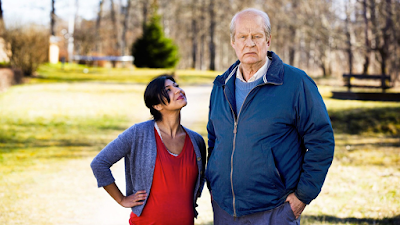 Bahar Pars and Rolf Lassgård in A Man Called Ove