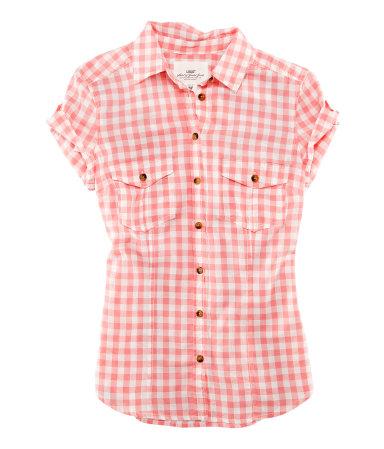 6453f29a5b Para Chicas Camisa Delgadas Ajustada Manga Corta De A Cuadros Rosa Más  Aquellas rZzqRZ0Tw