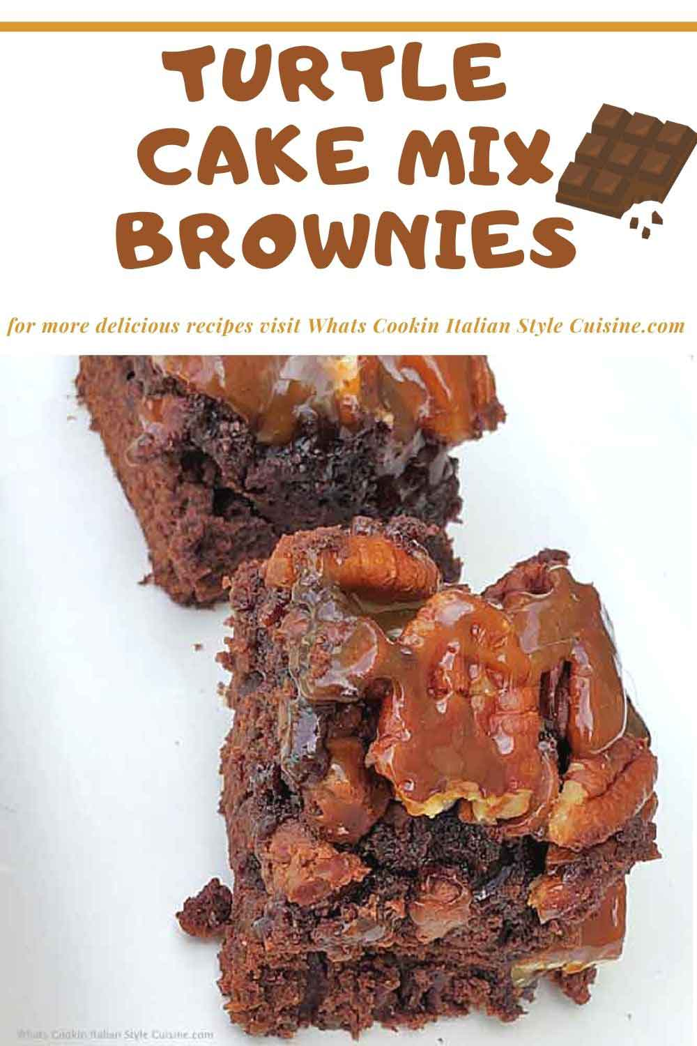 pin for later turtle brownies