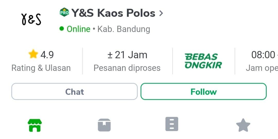Y&S Kaos Polos - Supplier Terpercaya di Tokopedia