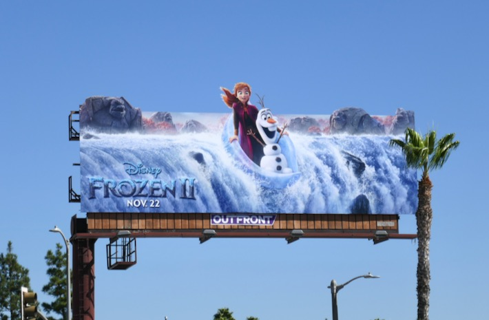 Frozen II waterfall extension billboard