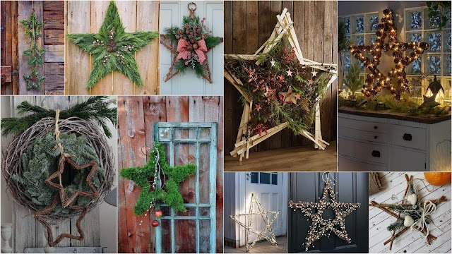 DIY Χριστουγεννιάτικα αστέρια από φυσικά υλικά