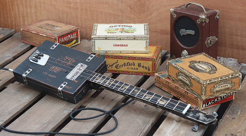 cigar box guitar how to build dvd for your own neck kit parts homemade amp ebay. Black Bedroom Furniture Sets. Home Design Ideas