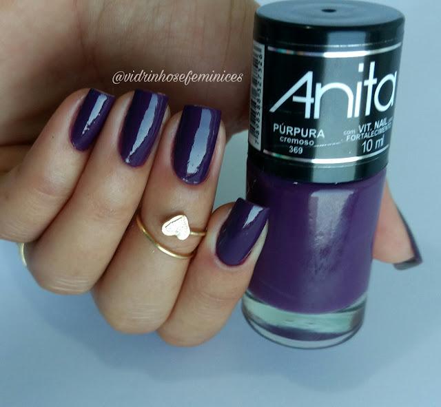 lançamento da anita esmaltes púrpura