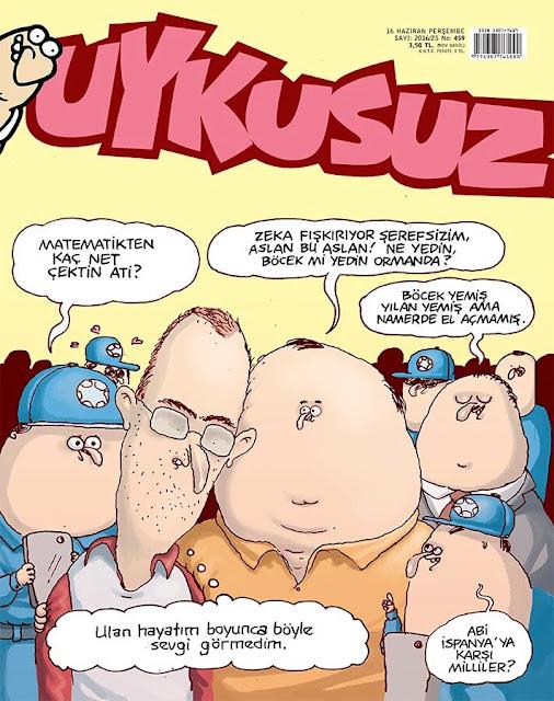 Uykusuz Dergisi - 16 Haziran 2016 Kapak Karikatürü