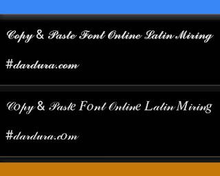 Copas Font Online Latin Miring Abjad A-Z Keren!