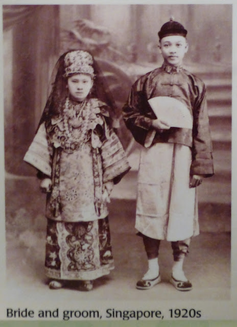 Singapore bride and groom, 1920
