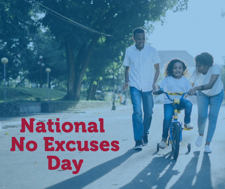 National No Excuses Day Wishes Pics