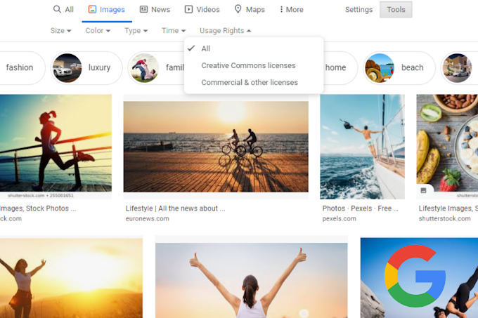 Google Removes 'Labeled for Reuse' Options from Google Image Search Tools
