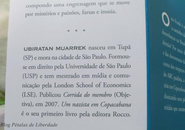 Resenha, livro, Um-nazista-em-Copacabana, Ubiratan-Muarrek, editora-rocco, opiniao, critica, fotos, trechos, literatura-nacional,